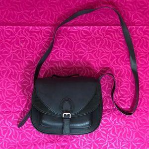 H&M black saddle bag purse